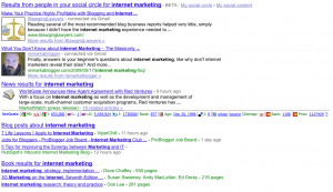 Google Friend Search Results