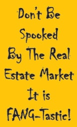 Funny Realtor Postcards - Don't be spooked by the real estate market... it is Fang-tastic!