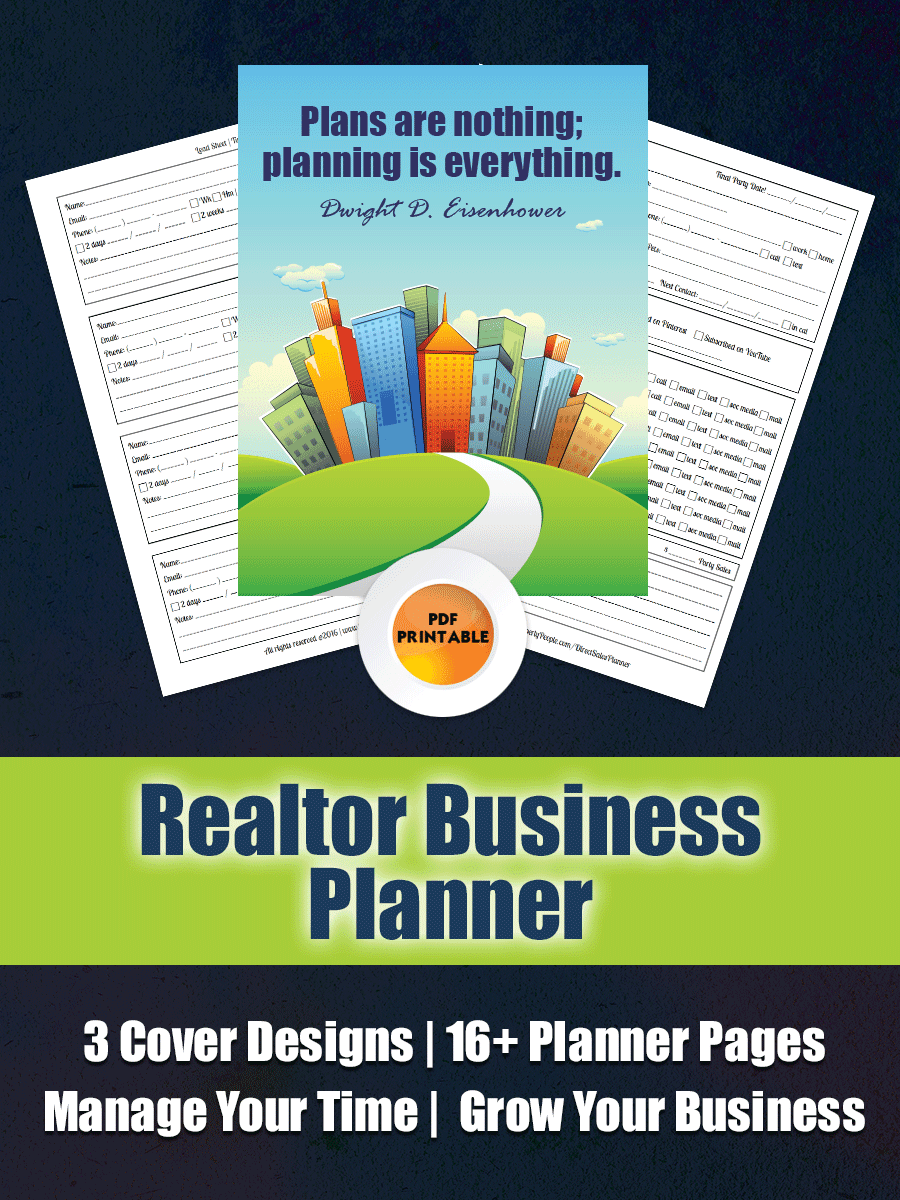 Real Estate Agent Business Planner | Real Estate Business Planner