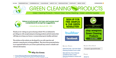 Small Business Marketing Case Study Green Cleaning Products