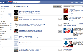 Facebook Groups, Friend Lists and Business Pages