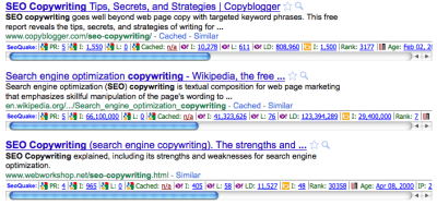 SEO Copywriting Google Example