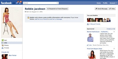 Facebook profile setting for small business marketing