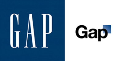 Old and New Gap Marketing Logos