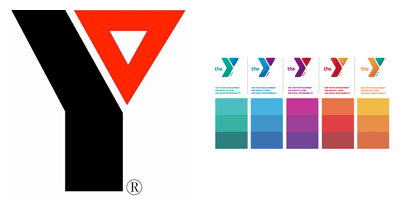 Old and New YMCA Marketing Logos
