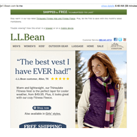 Email marketing LL Bean
