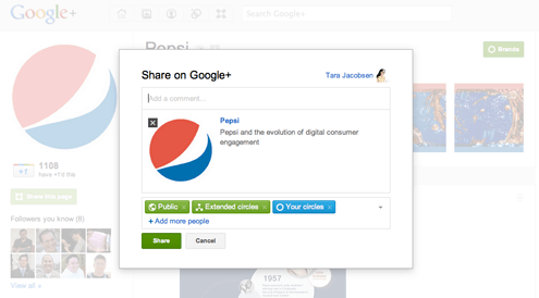 Share on google plus business pages
