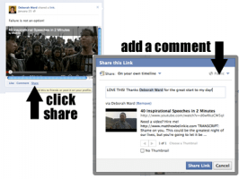 Facebook Commenting - Sharing Something To Your Wall