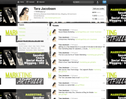 Social media profile - taradactyl