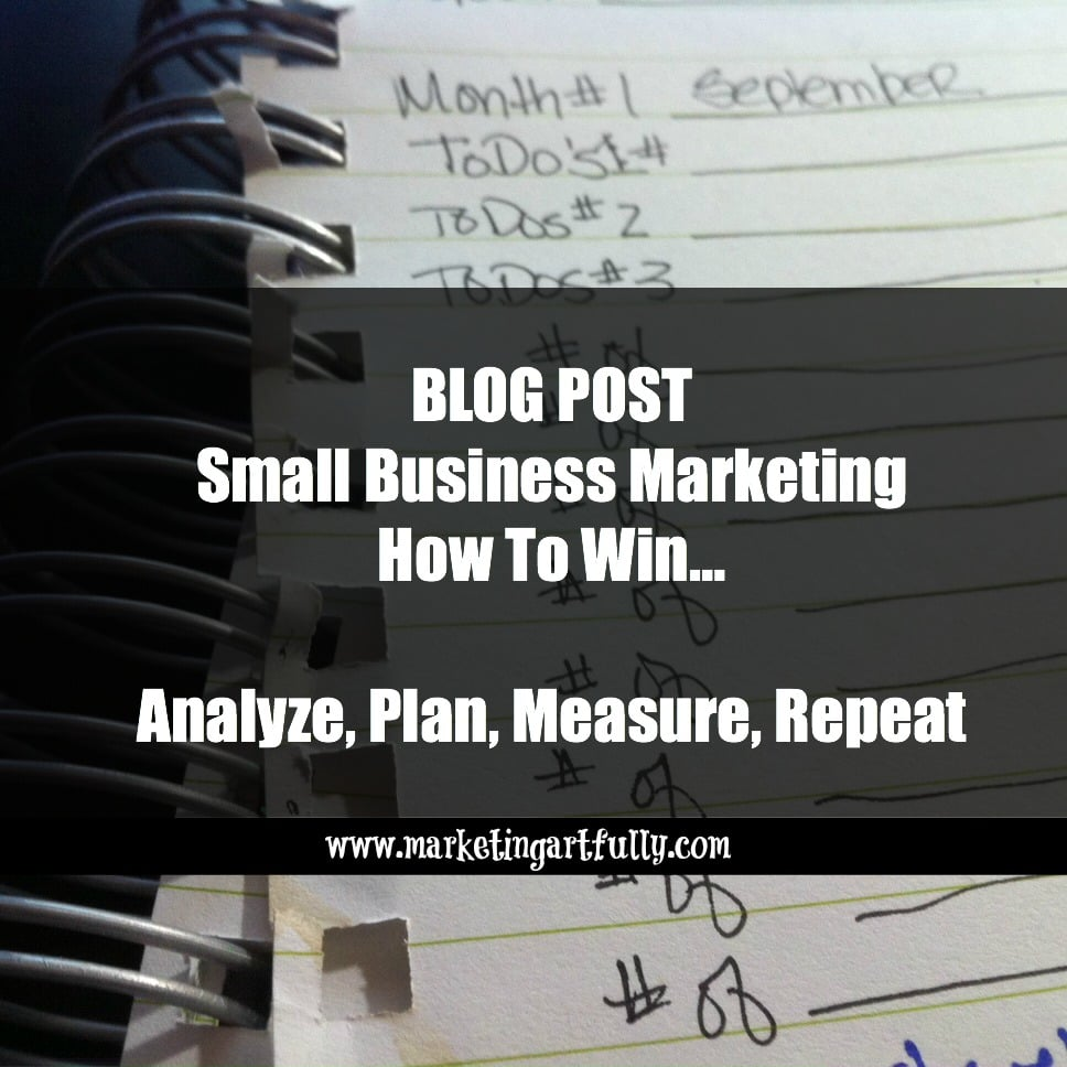 Small Business Marketing – How To Win…Analyze, Plan, Measure, Repeat