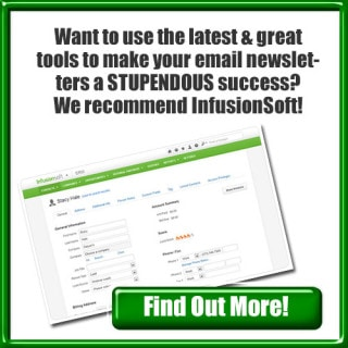 Email Newsletters - InfusionSoft Recommendation