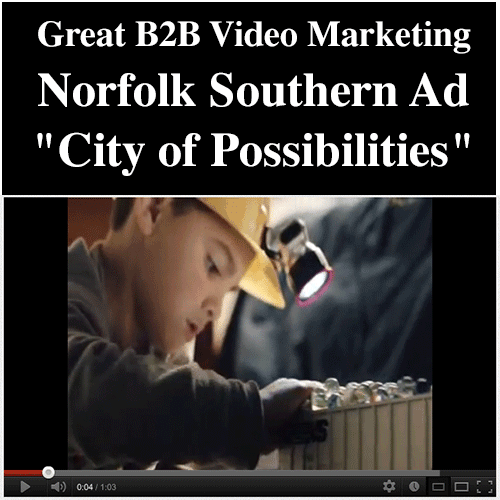 Small Business Marketing - Great B2B Norfolk Southern Video