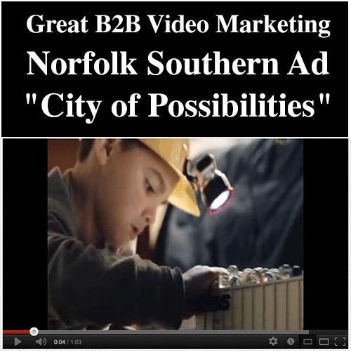 Small Business Marketing - Great B2B Norfolk Southern Video