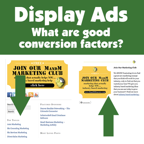 Display Ads - What Are Good Conversion Factors