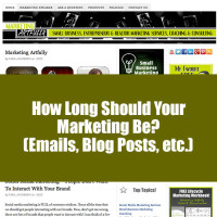 How Long Should Marketing Be - Email Blog Posts
