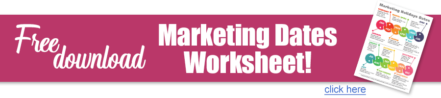 Marketing Dates Worksheet Middle Banner
