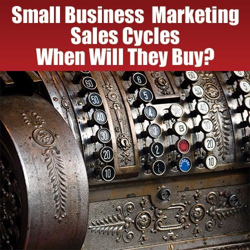 Small Business Marketing - Sales Cycles and When Will They Buy