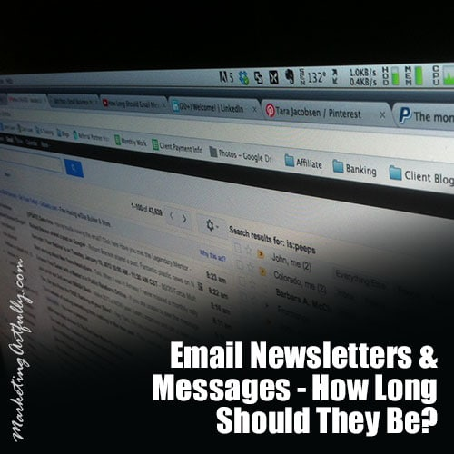 Email Newsletters & Messages - How Long Should They Be?