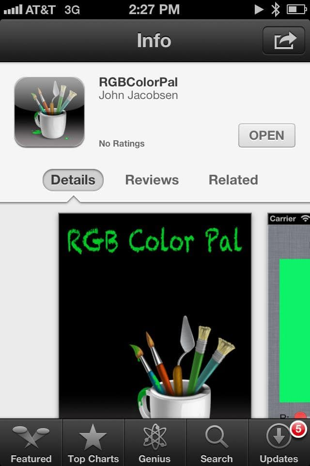 Best iPhone Apps for Web Design Marketing - RGBColorPal