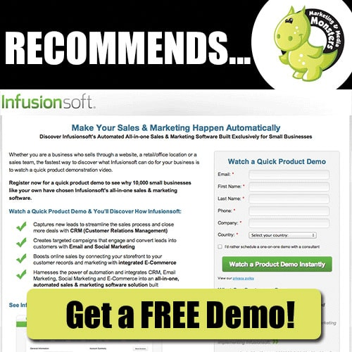 Get a free infusionsoft demo