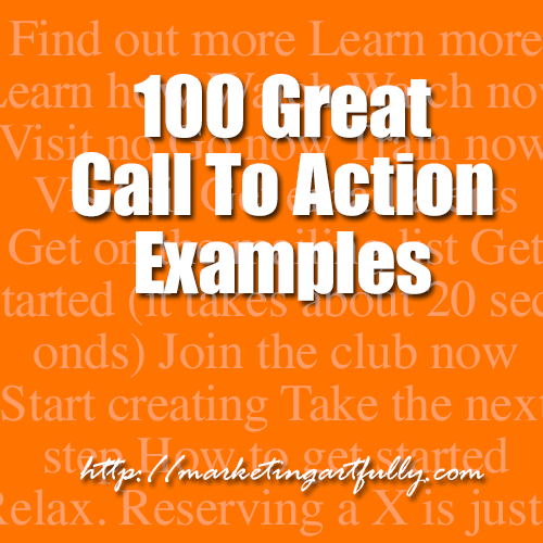 100 Great Call To Action Examples
