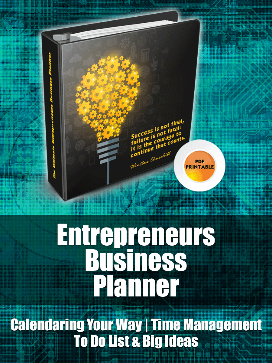 "Effective Entrepreneurs Business Planner | Have you ever thought to yourself, ""if I could just get organized I would be UNSTOPPABLE!"" I think you would be surprised how many successful entrepreneurs feel that way."