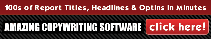 Write Report, Headlines & Optins Copywriting Software Banner