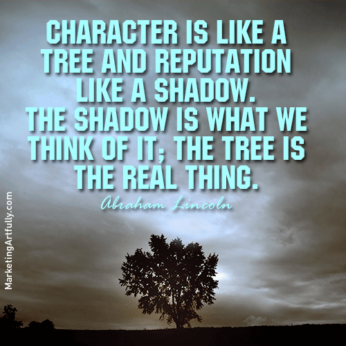 Abraham Lincoln Quote About Character and Trees