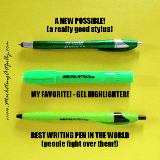 Promotional Products I Love! Oh the pens…:)