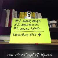 Entrepreneur Marketing – Marketing Focus…what are your three most important things?