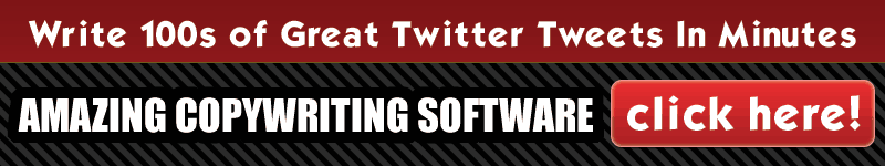Write Amazing Twitter Tweets - Copywriting Software Banner