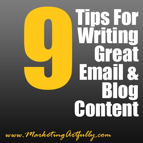 9 Tips For Writing Great Email and Blog Content