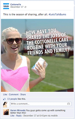 Sharing Cottonelle Facebook Fail