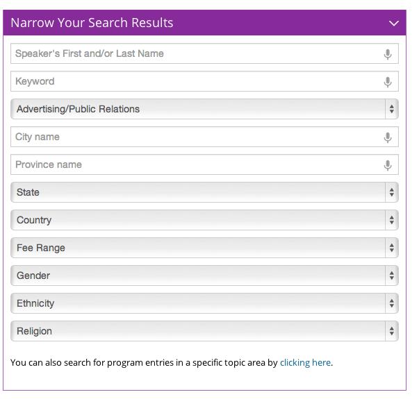SpeakerMatch Database Search