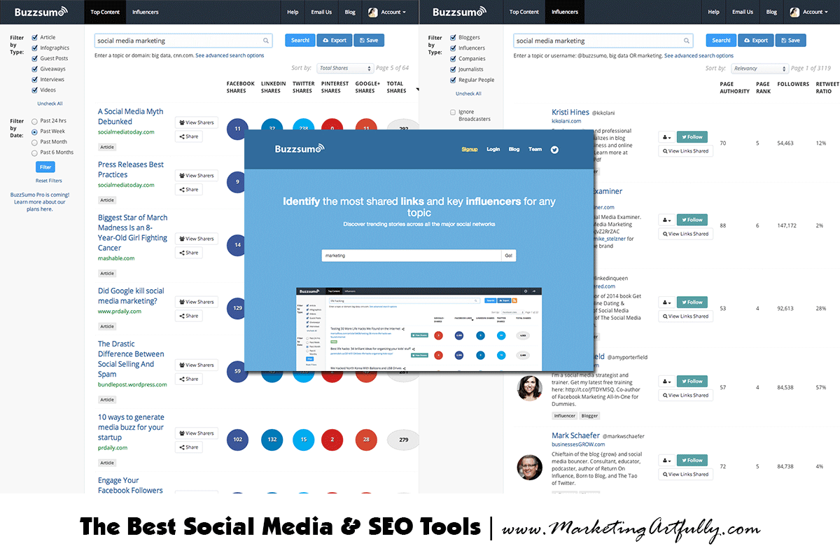 Buzzsumo Social Media Monitoring Tools