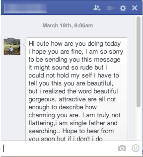 Facebook Spammy Messages