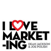 I love marketing logo