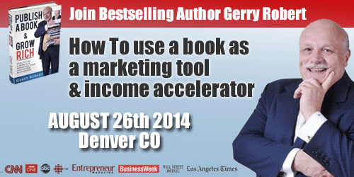 Gerry Roberts Book Publishing and Marketing Seminar
