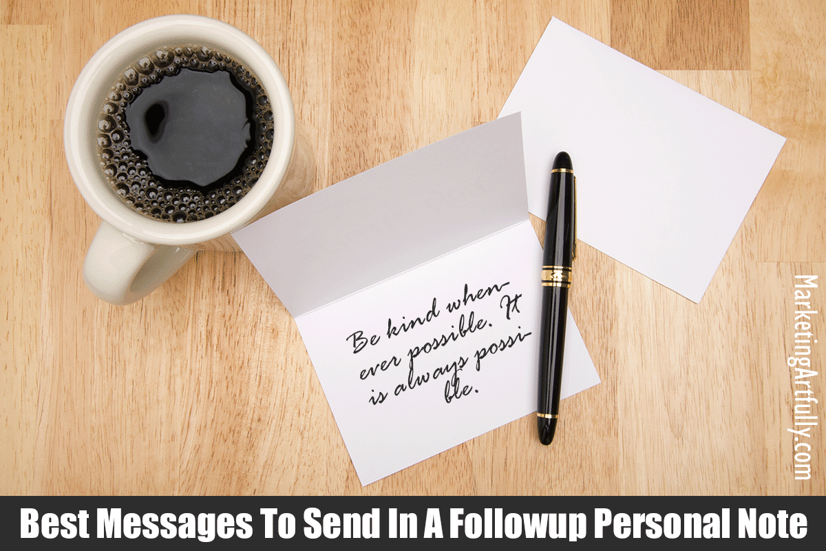 Best Messages To Send In  A Personal Note - Followup Samples