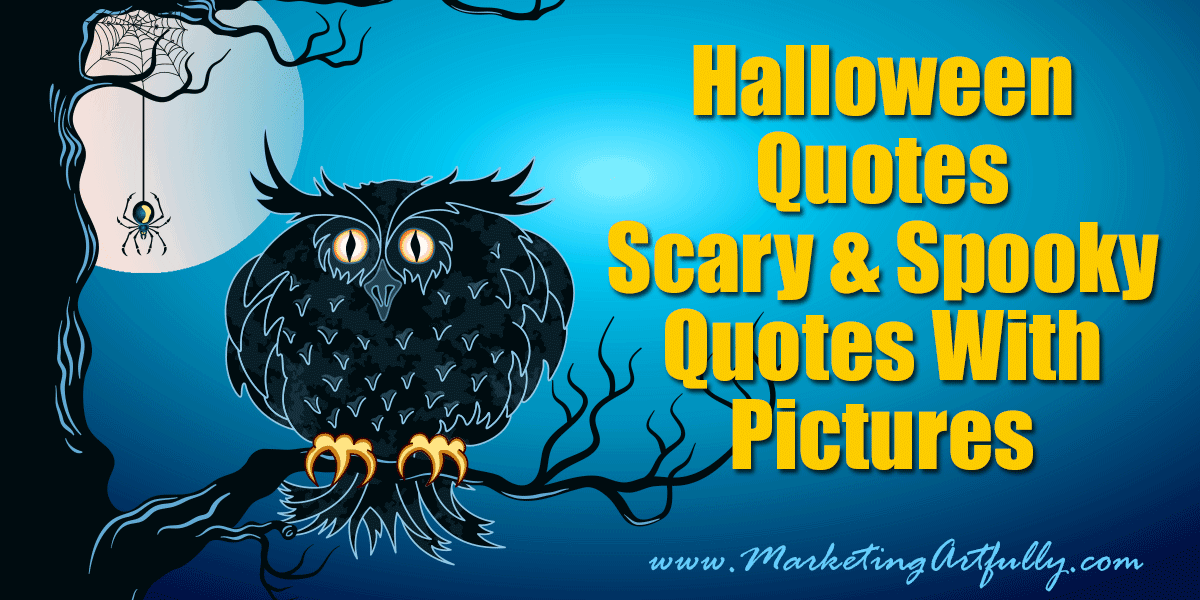 halloween quotes with pictures - Scary Halloween Quotes And Sayings