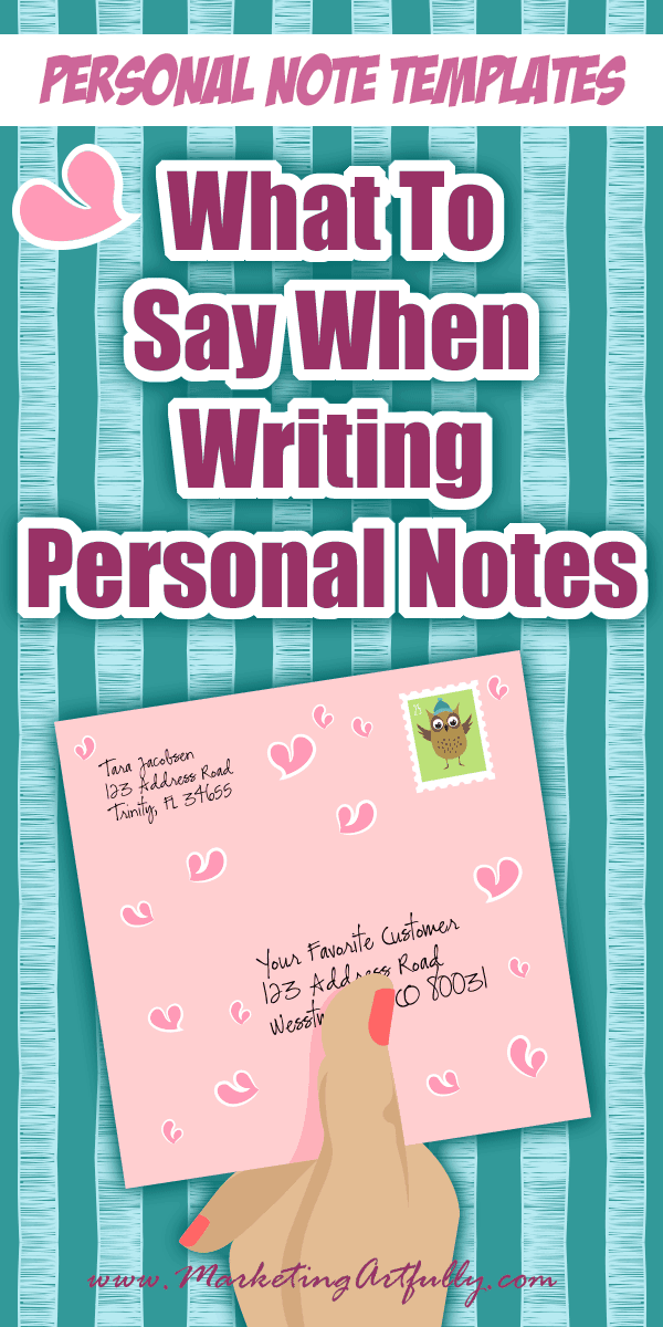 What To Say When Writing Personal Notes | Personal Note Templates