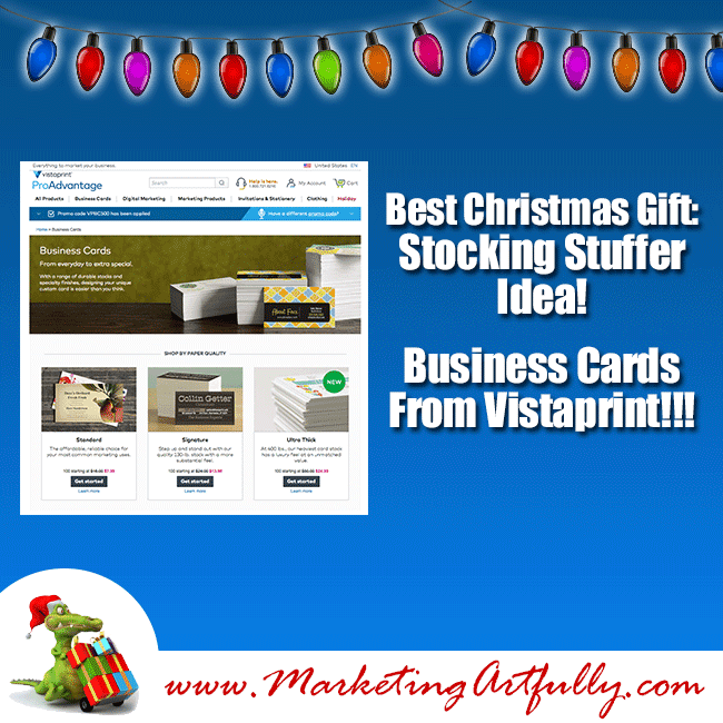 Best Christmas Gifts For Entrepreneurs - Business Card Stocking Stuffers