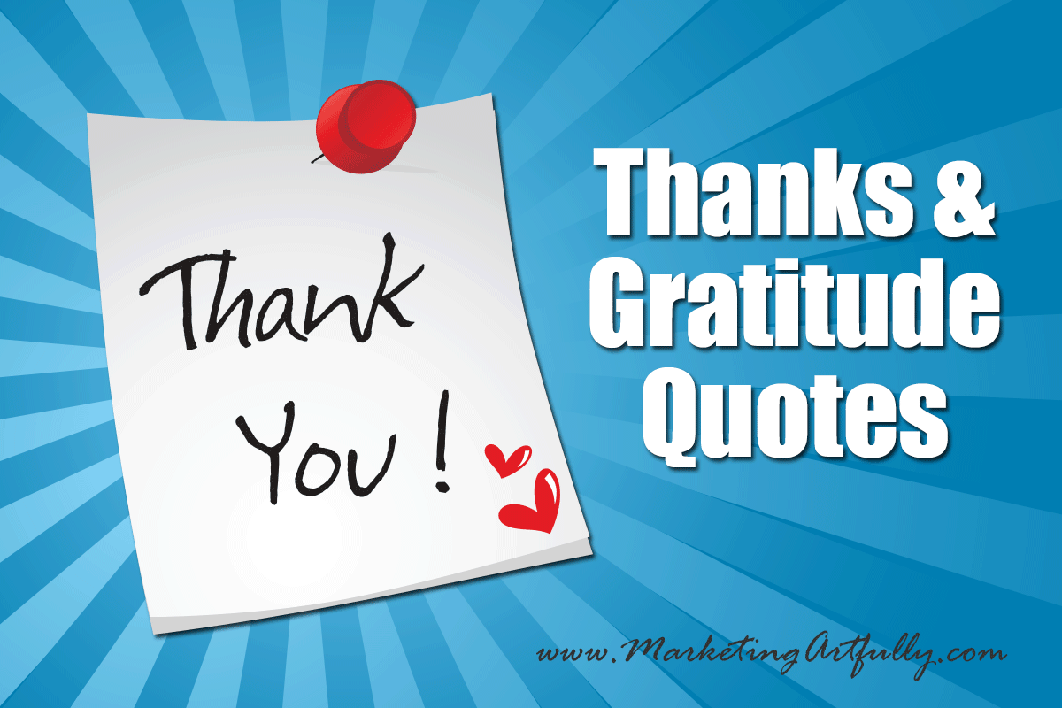 Thanks And Gratitude Quotes