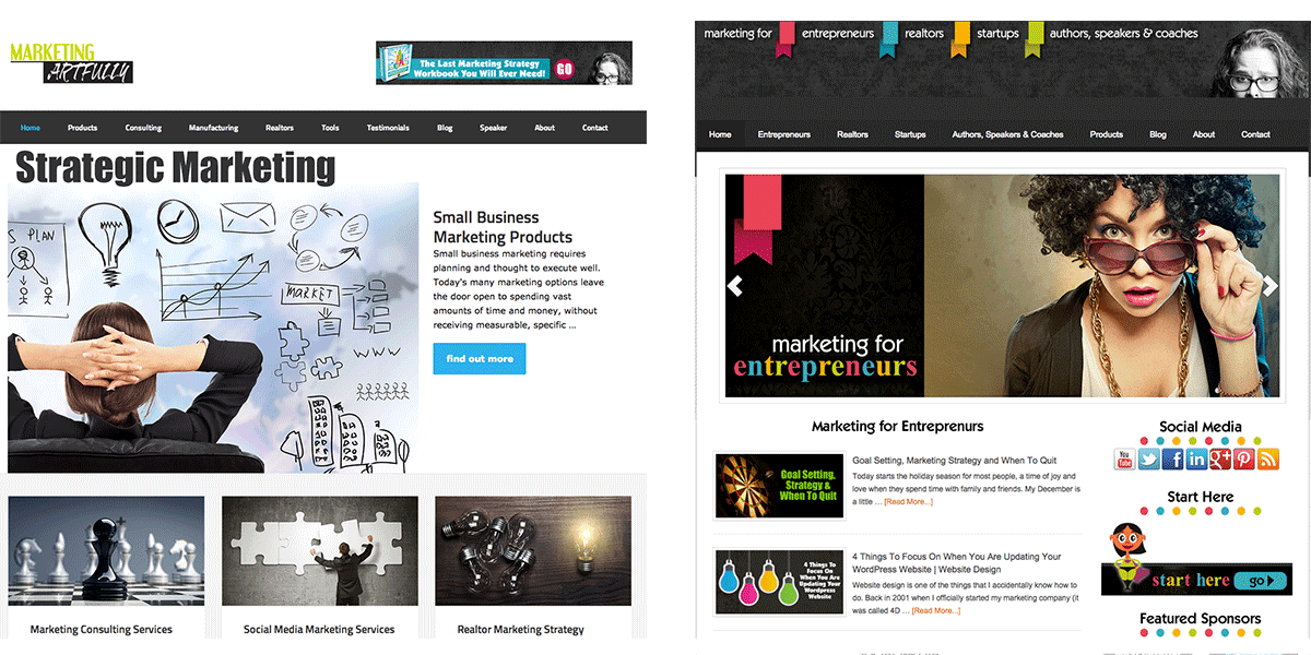 Marketing Artfully Website Redesign