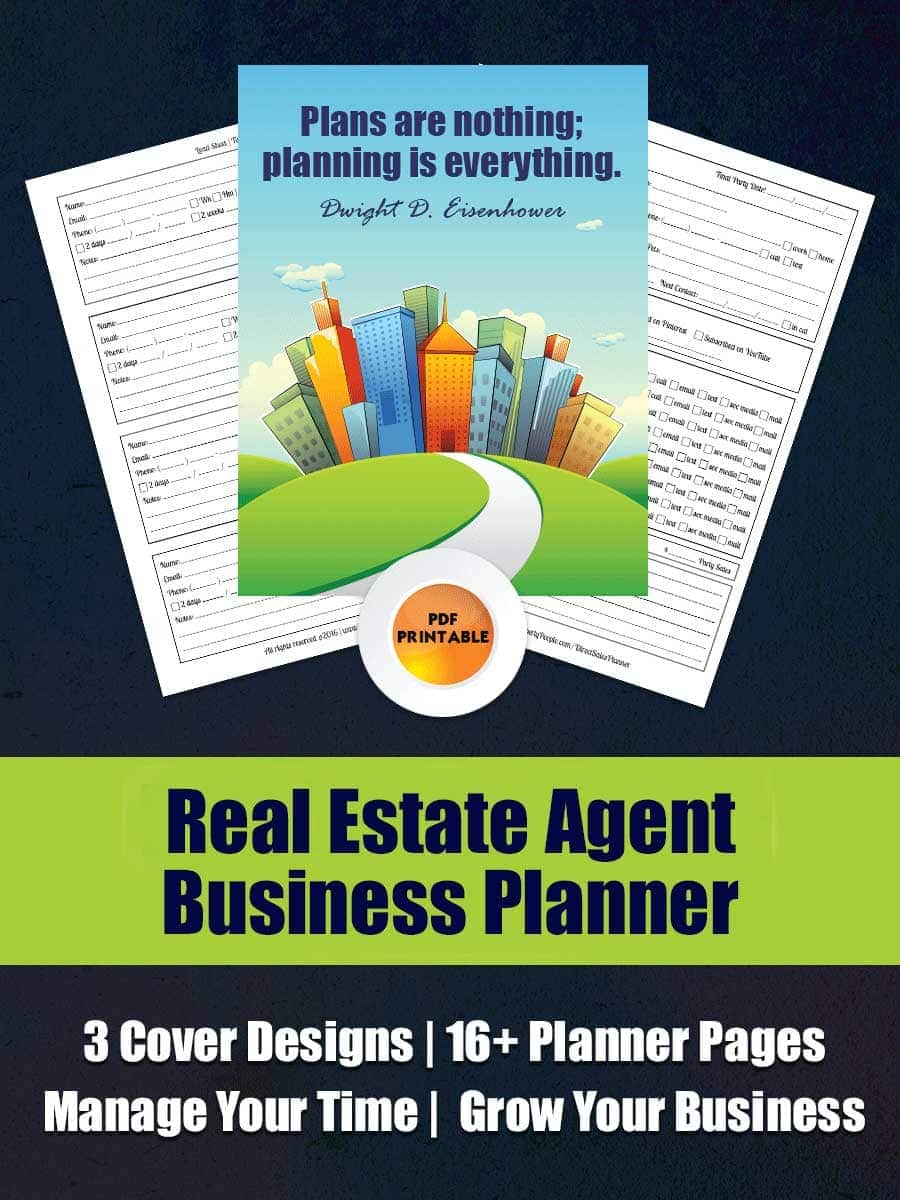 Real Estate Business Planner - The only planner designed by Real Estate Agents, for the specific needs of agents to track your leads, set your goals and manage your time!