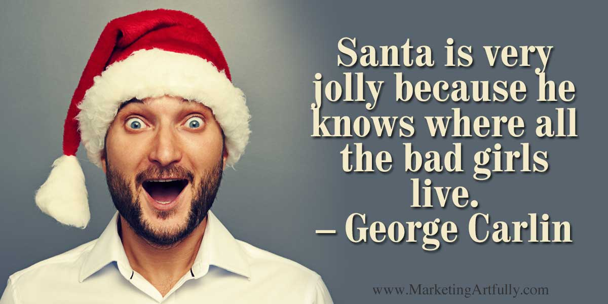 santa is jolly because he knows where all the bad girls live - The Office Christmas Quotes