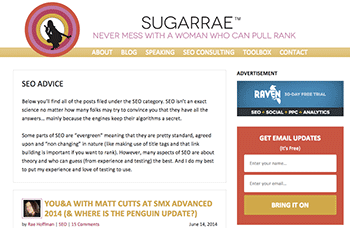 Sugarrae Category Pages