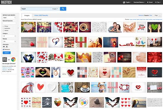 Big Stock Photo Heart Search