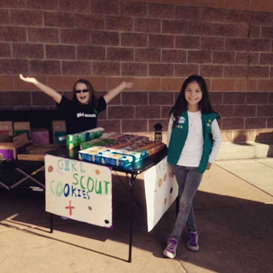 Cookie Booth - Girl Scouts