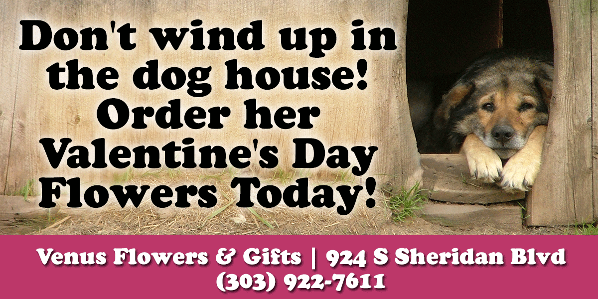 Don't Wind Up In The Dog House - Denver Florist Ad